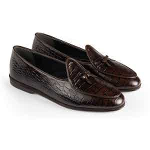 Dark Brown Marphy Leather Loafers