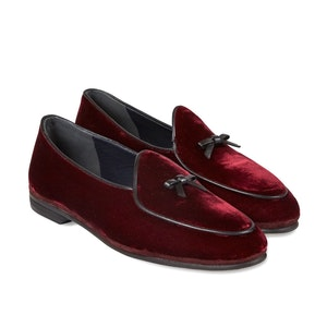 Bordeaux Marphy Suede Loafers