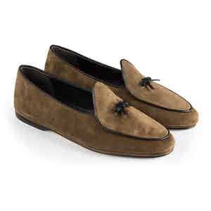 Coffee Marphy Suede Loafers