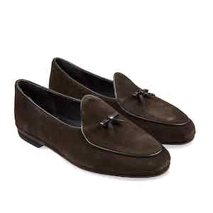 Dark Brown Marphy Suede Loafers