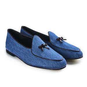 Denim Marphy Suede Loafers