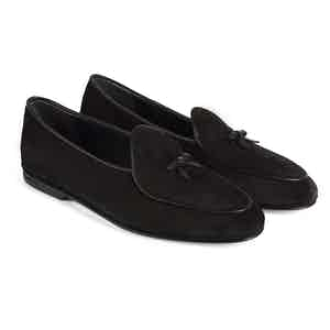 Black Marphy Suede Loafers