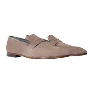 Taupe Suede Marzio Loafers