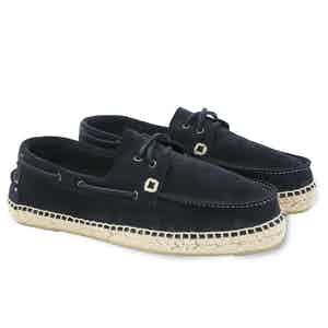 Navy Hamptons Suede Boat Shoes