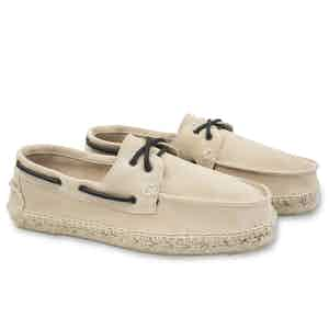 Champagne Hamptons Suede Boat Shoes