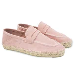 Rose Pine Hamptons Suede Loafers