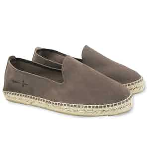 Light Brown Hamptons Suede Espadrilles