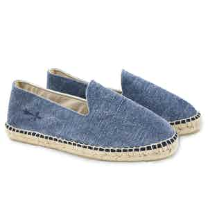 Blue La Havana Stonewashed Canvas Espadrilles