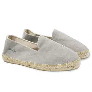 Grey La Havana Stonewashed Canvas Espadrilles