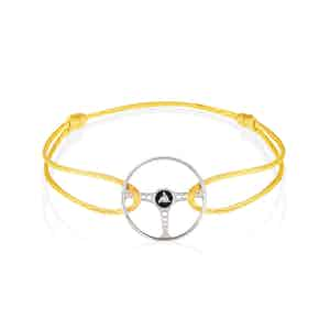 Revival Steering Wheel Sterling Silver on Yellow Tang cord