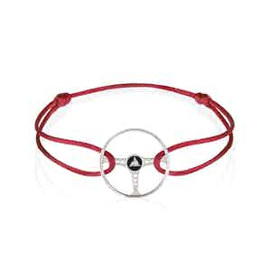 Revival Steering Wheel Sterling Silver on Magma Red cord