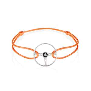 Revival Steering Wheel Sterling Silver on Fire Orange cord