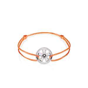 911 Wheels Sterling Silver on Signal Orange cord