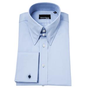 Sky Blue Tab Collar Shirt