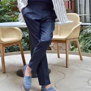 Midnight Blue Loro Piana Wool Classic Trousers