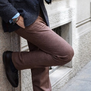 Light Brown Wool Genny Trousers