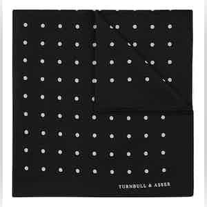 Black Spot Silk Pocket Square