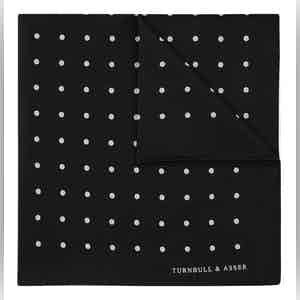 Black Spot Silk Pocket Square