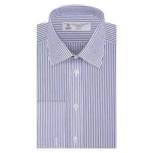 Blue Bengal Stripe Classic Collar Cotton Shirt