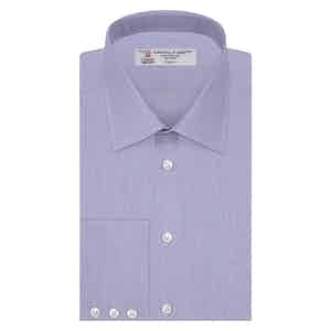 Blue End-on-End Classic Collar Cotton Shirt