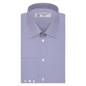 Blue Prince of Wales Check Classic Collar Cotton Shirt
