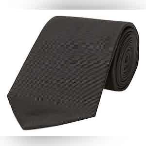 Black Twill Silk Tie