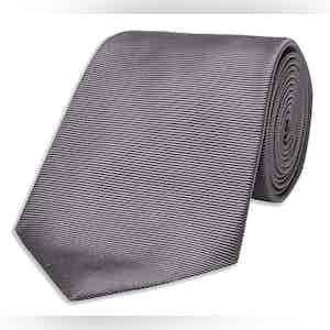 Dark Grey Twill Silk Tie