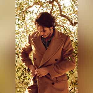 "Murat ""Camel"" Light Brown Alpaca Double-Breasted Coat"