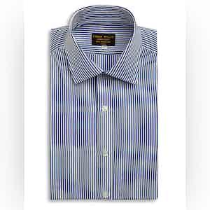 Navy Bengal Stripe Cotton Shirt