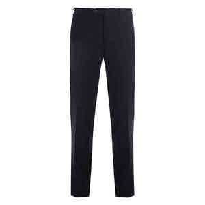 Navy Casual Fustian Cotton Trousers