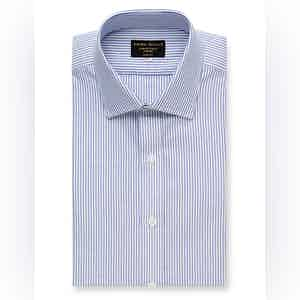Navy Oxford Stripe Cotton Shirt