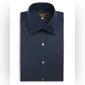 Navy Superior Cotton Shirt