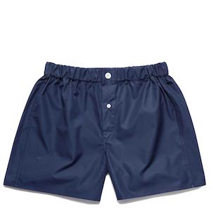 Navy Superior Cotton Boxer Shorts