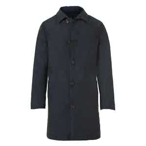 Navy Wool and Cashmere Mac