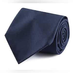 Navy Wool 10-Fold Tie