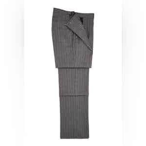 Black and Grey Striped Morning Wool Trousers