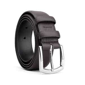 Dark Brown Classic Leather Belt Olivier