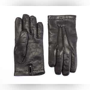 Brown Cashmere Lined Lambskin Gloves