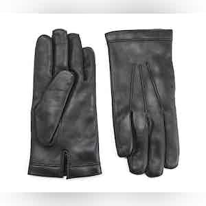 Black Cashmere Lined Lambskin Gloves