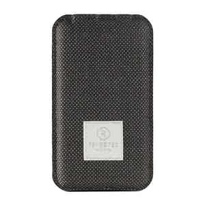 Brown Bird's Eye Weave Wool Power Bank