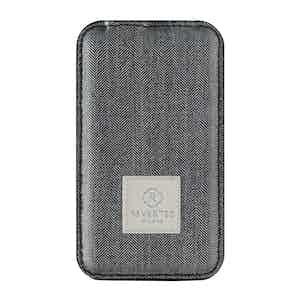 Grey Herringbone Wool Power Bank