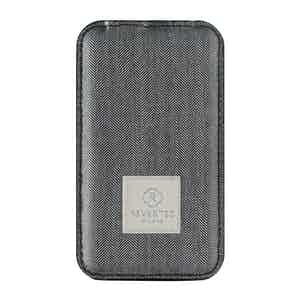 Grey Herringbone Wool Power Bank