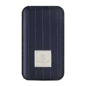 Blue Pinstripe Wool Power Bank