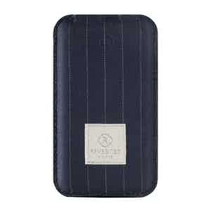 Blue Pinstripe Wool Power Bank