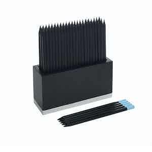 Black HB Pencil Wood and Aluminium Box