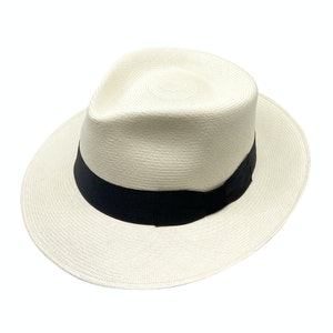 Natural Semi-Bleached Toquilla Palm Straw Sinatra Panama Hat