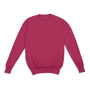 Coral Pink Crew Neck Cashmere Sweater
