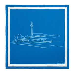 Blue and White Garage Italia Pocket Handkerchief
