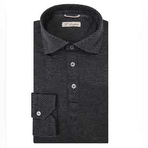 Charcoal Long Sleeve Polo Shirt