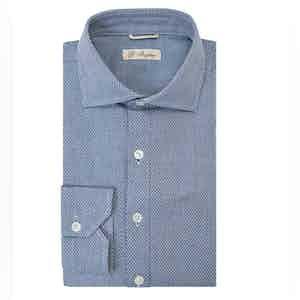 Light Blue Long Sleeve Polo Shirt